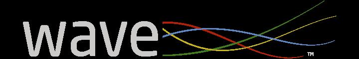 Wave logo header