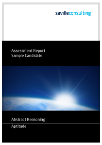 Abstract Reasoning Aptitude Sample Report Cover