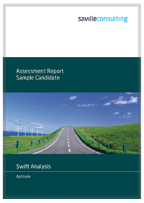 Swift Analysis Aptitude Sample Report cover