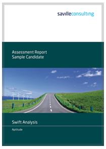 Swift Analysis Aptitude Sample Report cover