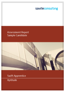 Swift Apprentice Sample Report Cover