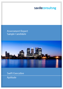 Swift Executive Aptitude Sample Report Cover