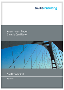 Swift Technical Aptitude Sample Report Cover